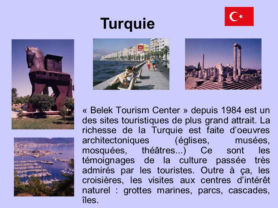 « Belek Tourism Center » depuis 1984 est un des sites touristiques de plus grand attrait. La richesse de la Turquie est faite doeuvres architectonique