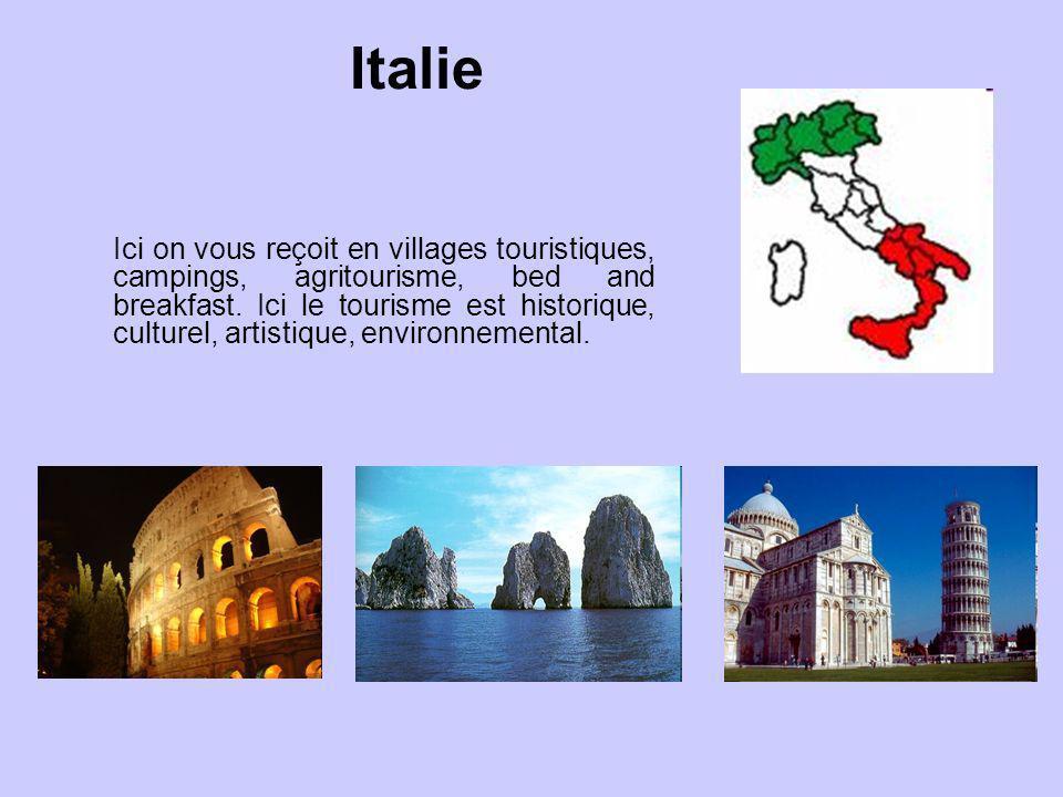 Italie Ici on vous reçoit en villages touristiques, campings, agritourisme, bed and breakfast. Ici le tourisme est historique, culturel, artistique, e