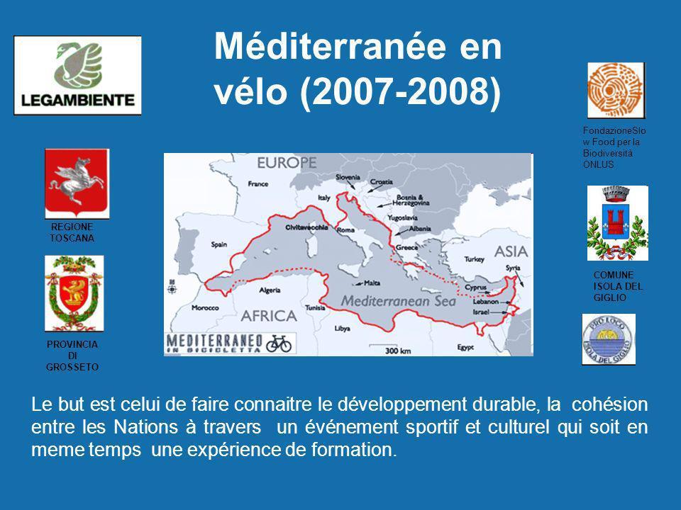 Méditerranée en vélo (2007-2008) FondazioneSlo w Food per la Biodiversità ONLUS REGIONE TOSCANA PROVINCIA DI GROSSETO COMUNE ISOLA DEL GIGLIO Le but e