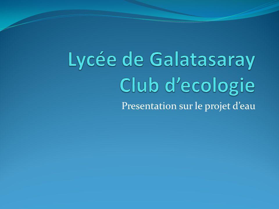 Presentation sur le projet deau