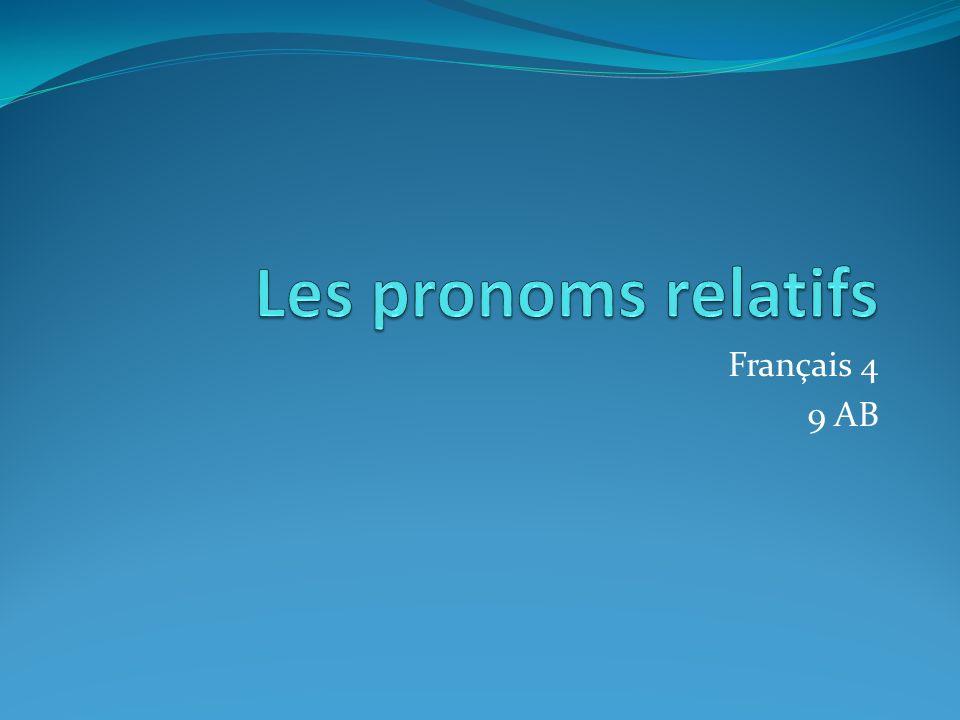 Français 4 9 AB