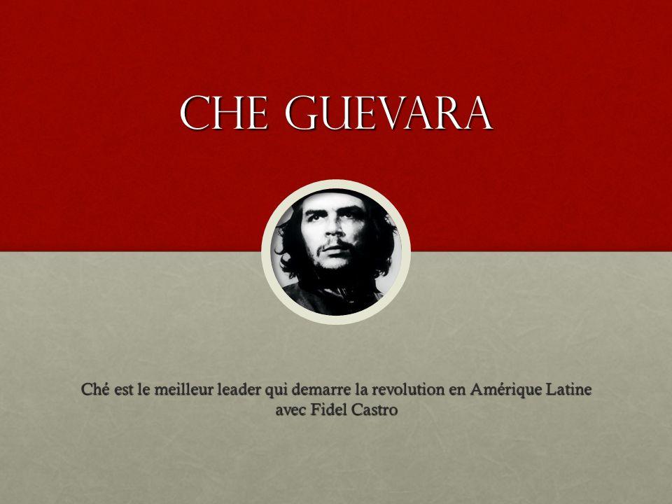 Che guevara Ché est le meilleur leader qui demarre la revolution en Amérique Latine avec Fidel Castro