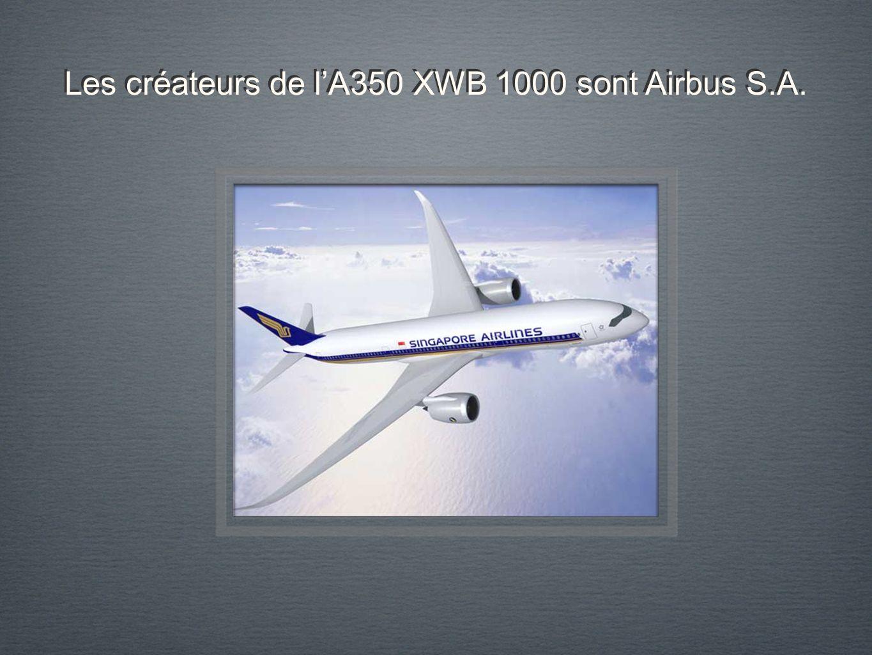Les créateurs de lA350 XWB 1000 sont Airbus S.A.