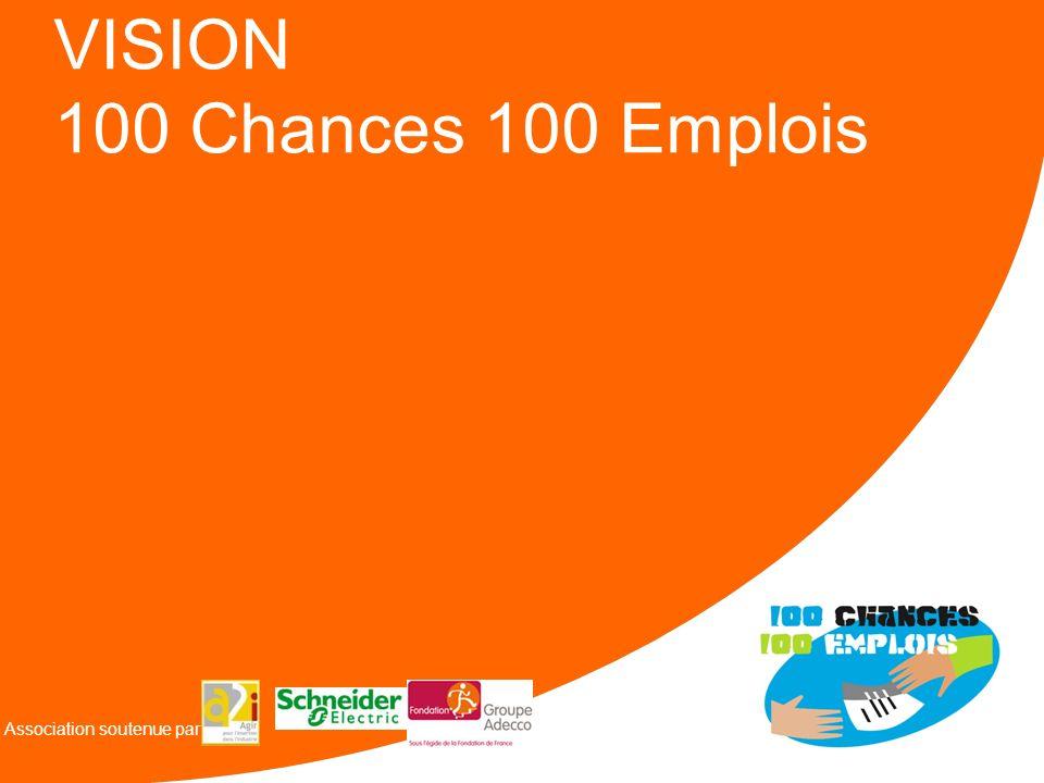 VISION 100 Chances 100 Emplois Association soutenue par