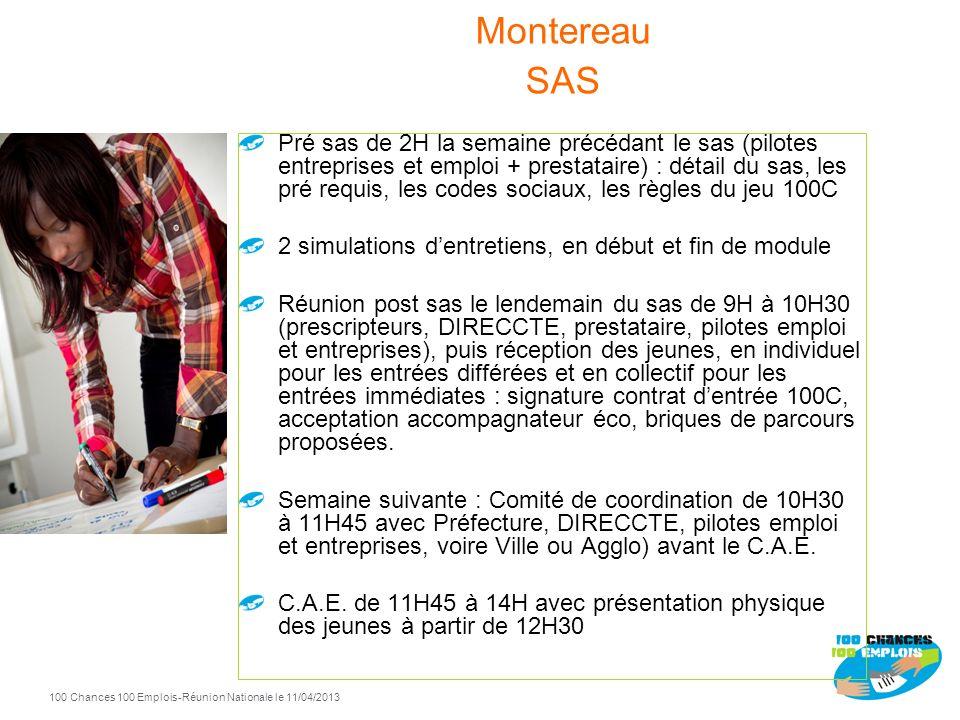 100 Chances 100 Emplois 105 -Réunion Nationale le 11/04/2013 Contenu pédagogique: Se préparer pour un entretien Mettre en valeur ses qualités et ses c
