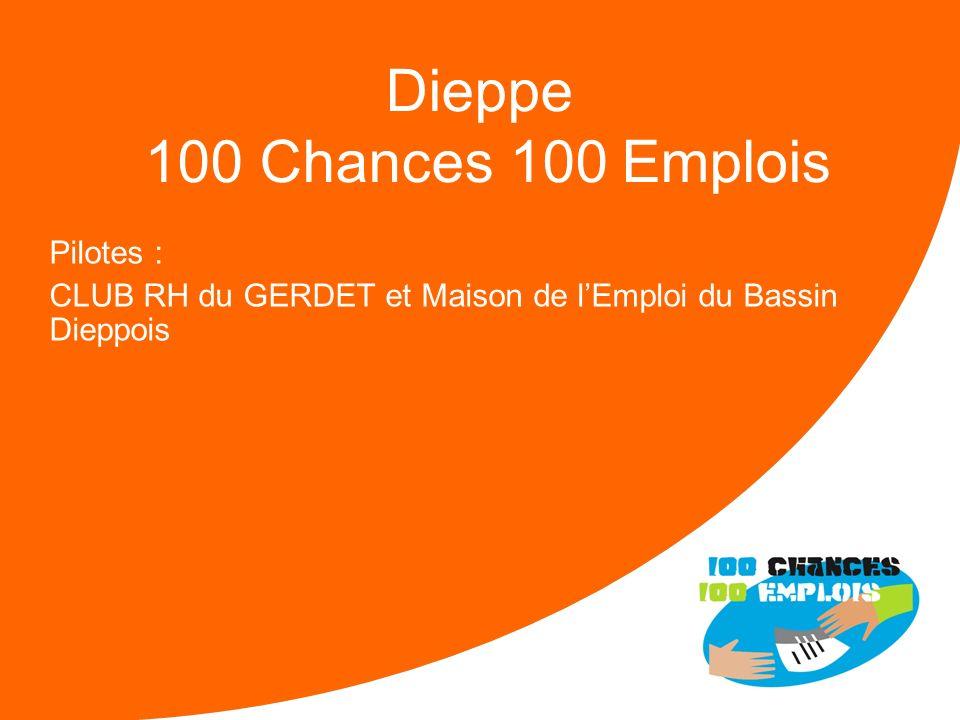 100 Chances 100 Emplois 26 -Réunion Nationale le 11/04/2013 Difficultés : Difficulté à trouver des jeunes issus de ZUS et / ou CUCS Faible réactivité