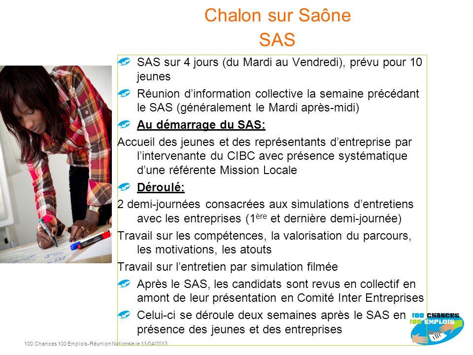 Spécificités SAS Chalon sur Saone