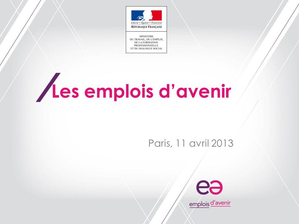 / Paris, 11 avril 2013 Les emplois davenir