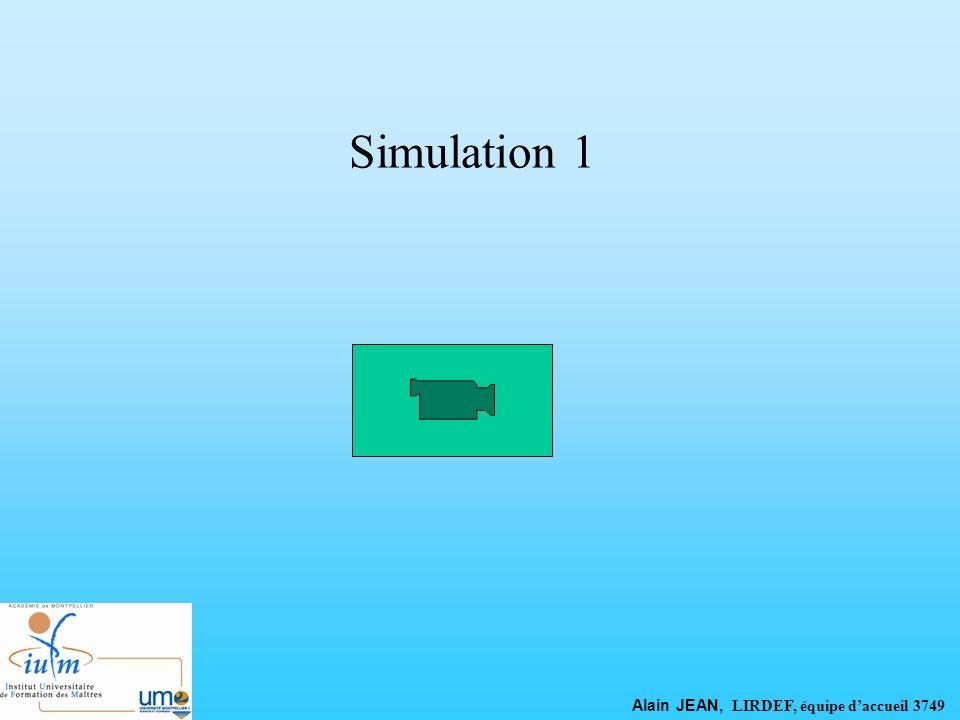 Simulation 1 Alain JEAN, LIRDEF, équipe daccueil 3749
