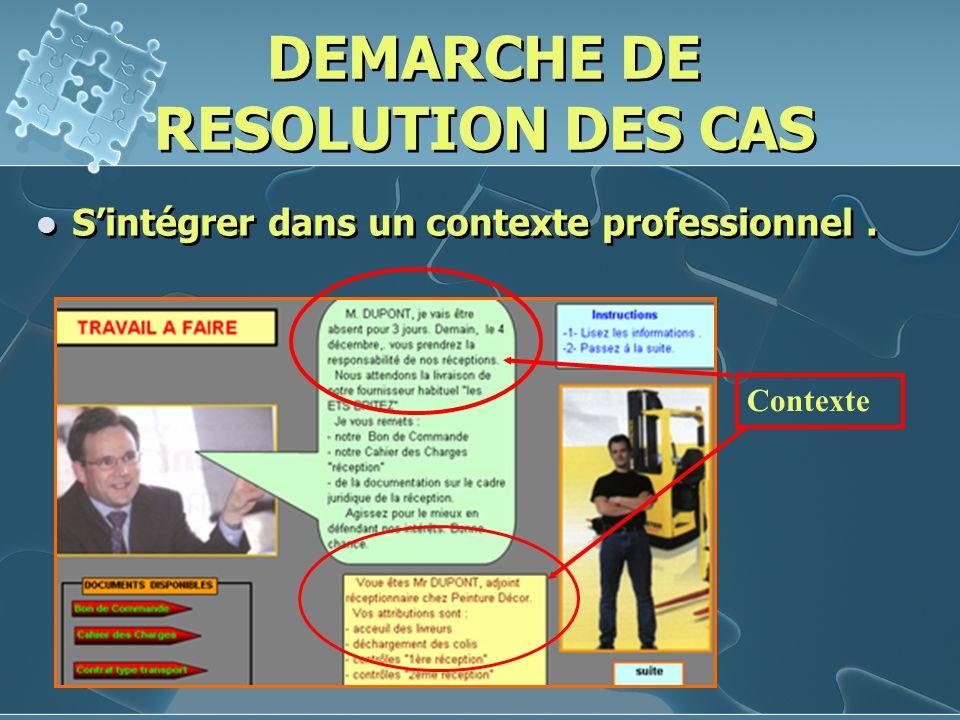 DEMARCHE DE RESOLUTION DES CAS Analyser les données. données