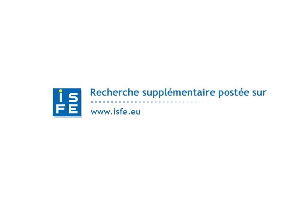 Recherche supplémentaire postée sur www.isfe.eu