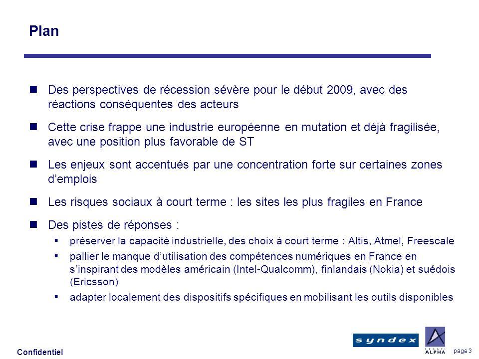 Confidentiel page 3 Plan Des perspectives de récession sévère pour le début 2009, avec des réactions conséquentes des acteurs Cette crise frappe une i