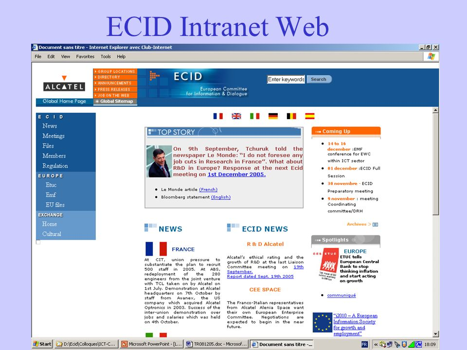 ECID Intranet Web