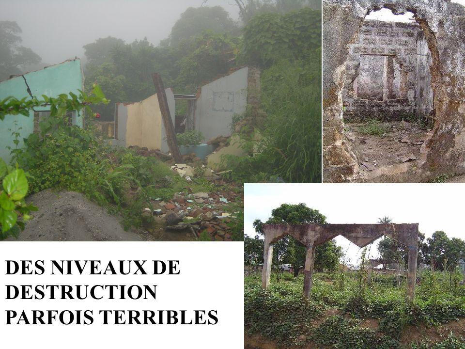 DES NIVEAUX DE DESTRUCTION PARFOIS TERRIBLES