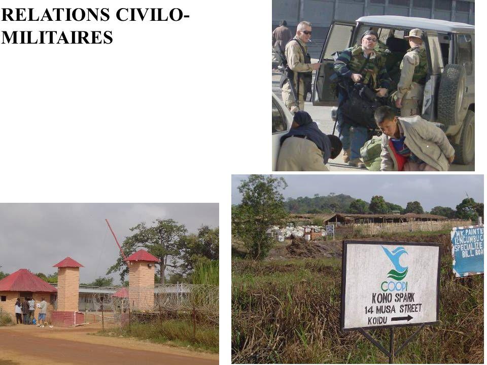 RELATIONS CIVILO- MILITAIRES