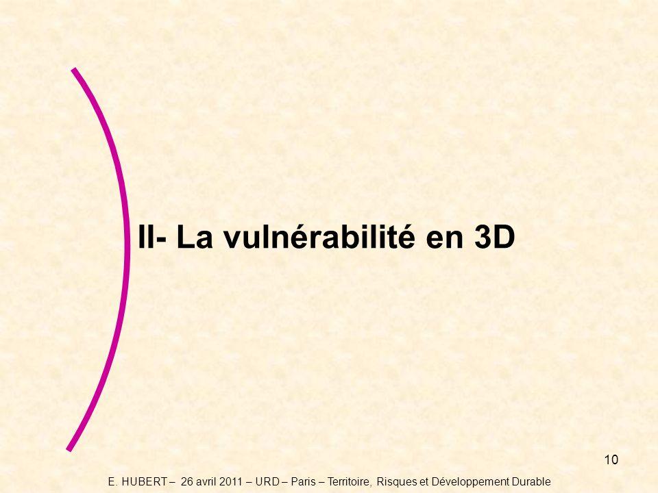 10 II- La vulnérabilité en 3D E.