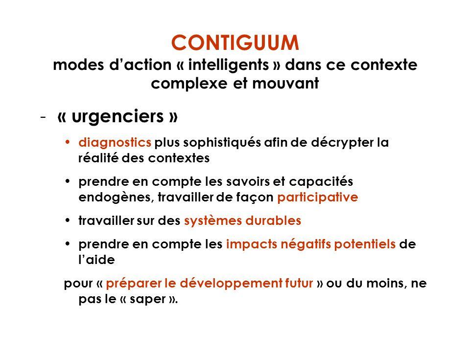CONTIGUUM modes daction « intelligents » dans ce contexte complexe et mouvant - « urgenciers » diagnostics plus sophistiqués afin de décrypter la réal