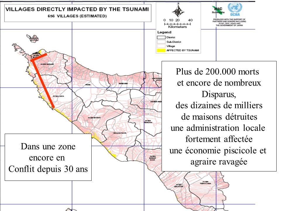 Plus de 200.000 morts et encore de nombreux Disparus, des dizaines de milliers de maisons détruites une administration locale fortement affectée une é
