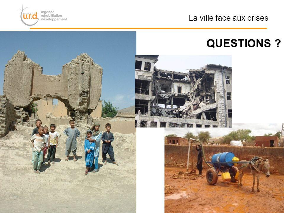 QUESTIONS La ville face aux crises