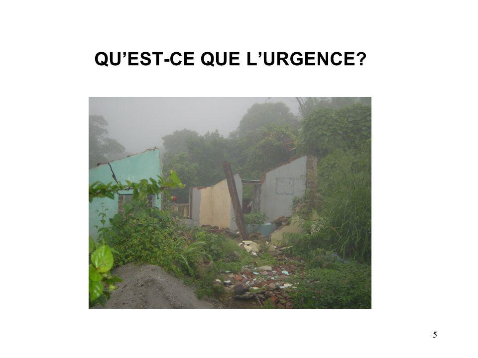 5 QUEST-CE QUE LURGENCE?