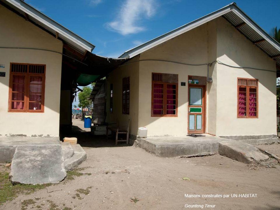 Maisons construites par UN-HABITAT. Geunteng Timur