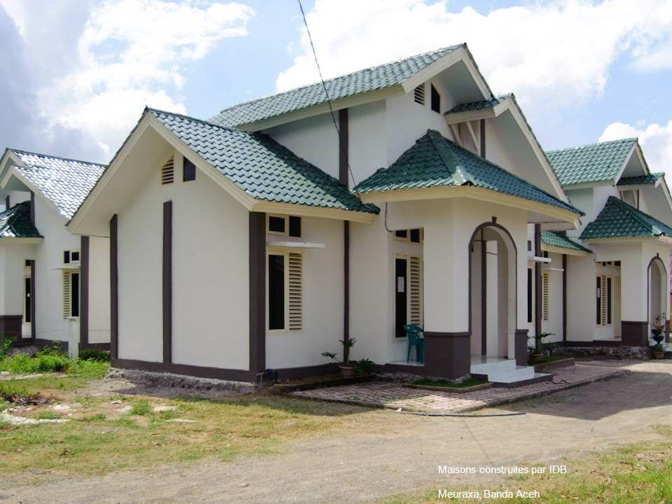 Maisons construites par IDB. Meuraxa, Banda Aceh