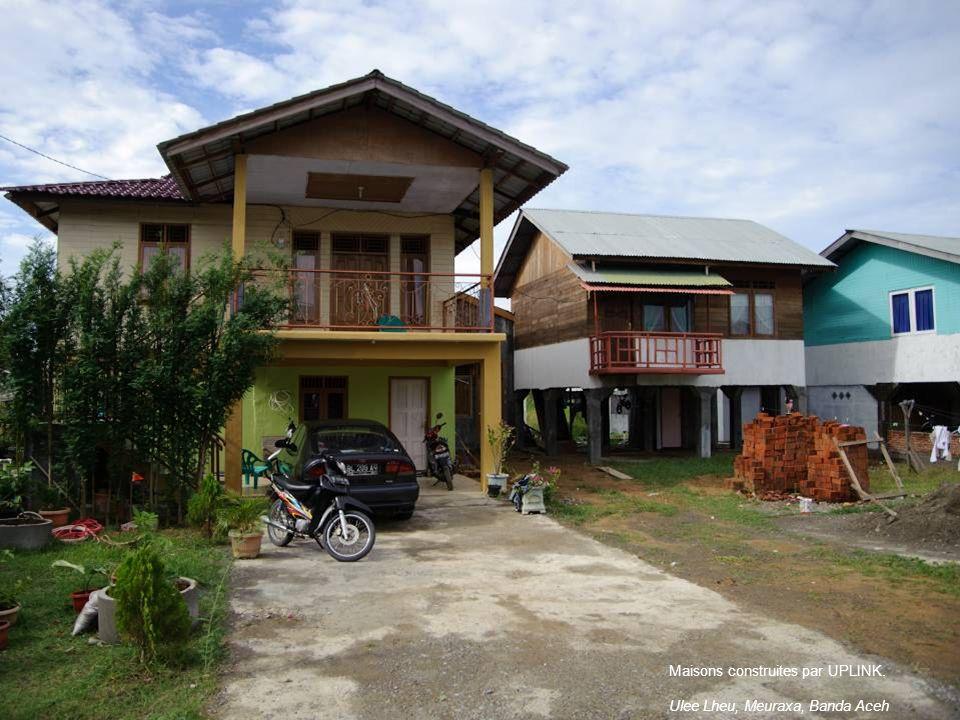 Maisons construites par UPLINK. Ulee Lheu, Meuraxa, Banda Aceh