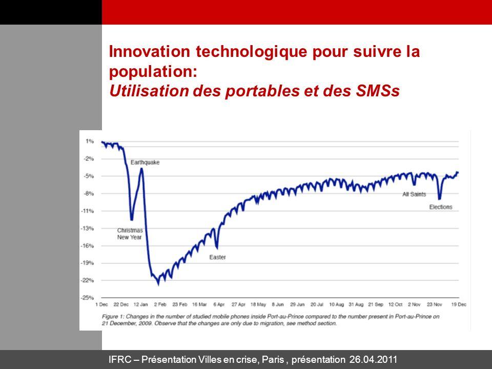 Innovation technologique pour suivre la population: Utilisation des portables et des SMSs