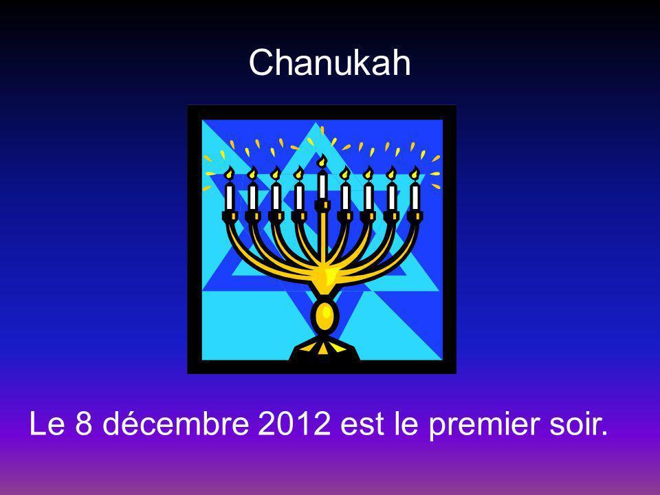 Chanukah Le 8 décembre 2012 est le premier soir.