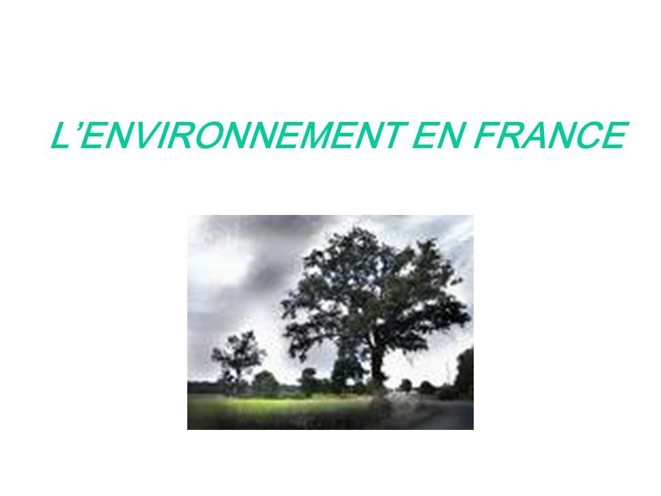 LENVIRONNEMENT EN FRANCE