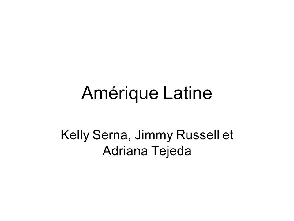 Amérique Latine Kelly Serna, Jimmy Russell et Adriana Tejeda