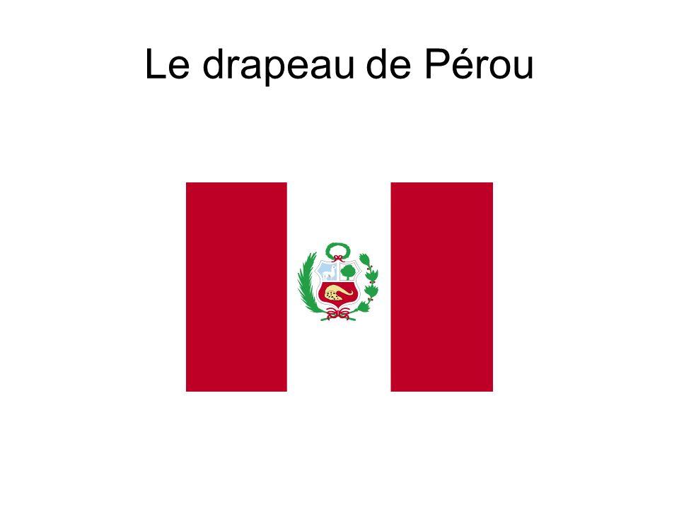 Le drapeau de Pérou