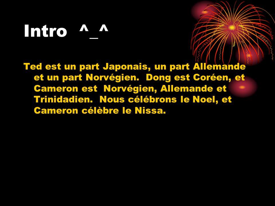 Intro^_^ Ted est un part Japonais, un part Allemande et un part Norvégien.