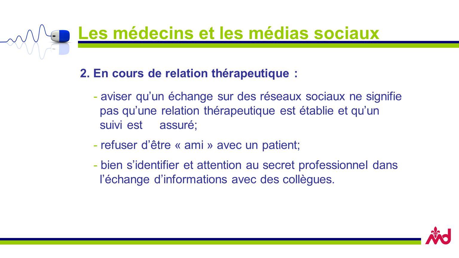 Les médecins et les médias sociaux 2.