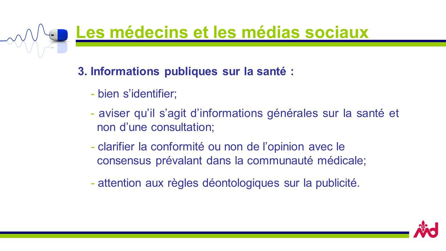 Les médecins et les médias sociaux 3.