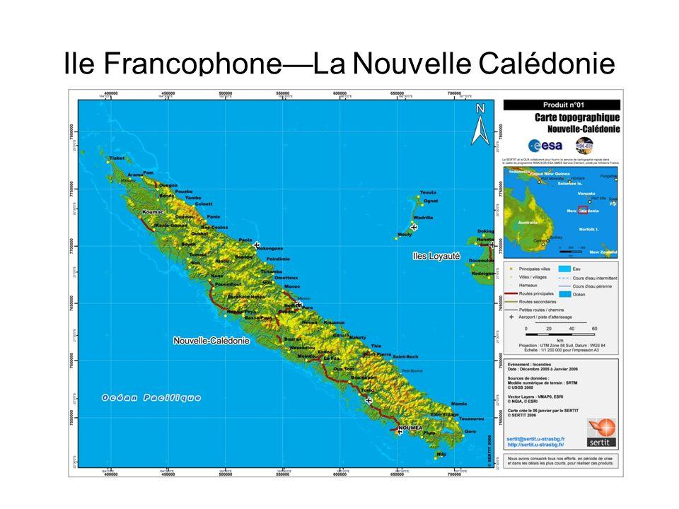 Informations Population 244.000 habitants Capitale Nouméa Economie– les mines, le tourisme, le bétail (vaches) Officiellement gouvernée par la France Français– langue officielle, mais 28 langues Austronésiennes parlées aussi Colonisée par la France 1853 Originalement colonisée par les prisonniers (comme lAustralie)