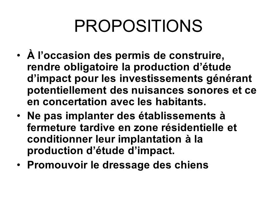 PROPOSITIONS À loccasion des permis de construire, rendre obligatoire la production détude dimpact pour les investissements générant potentiellement d