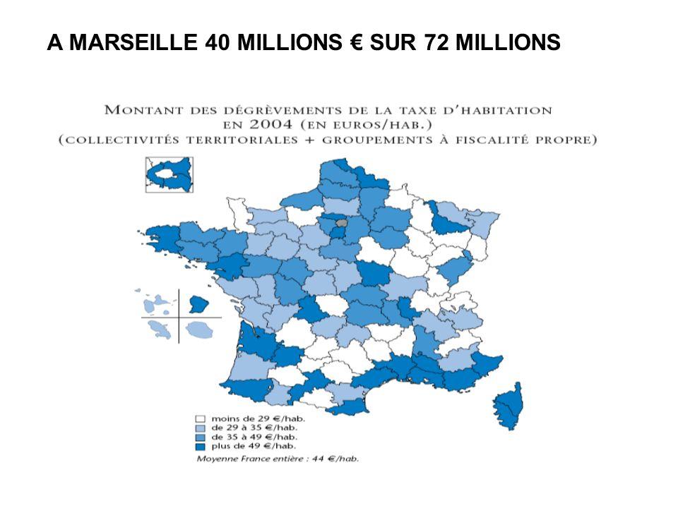 A MARSEILLE 40 MILLIONS SUR 72 MILLIONS