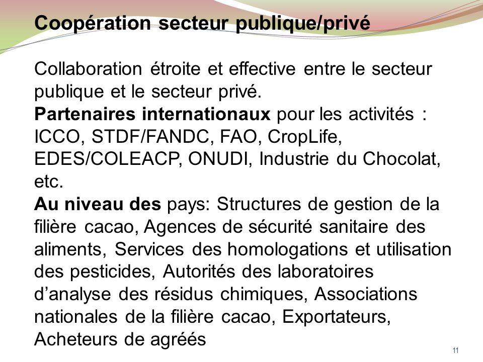 Coopération secteur publique/privé Collaboration étroite et effective entre le secteur publique et le secteur privé.