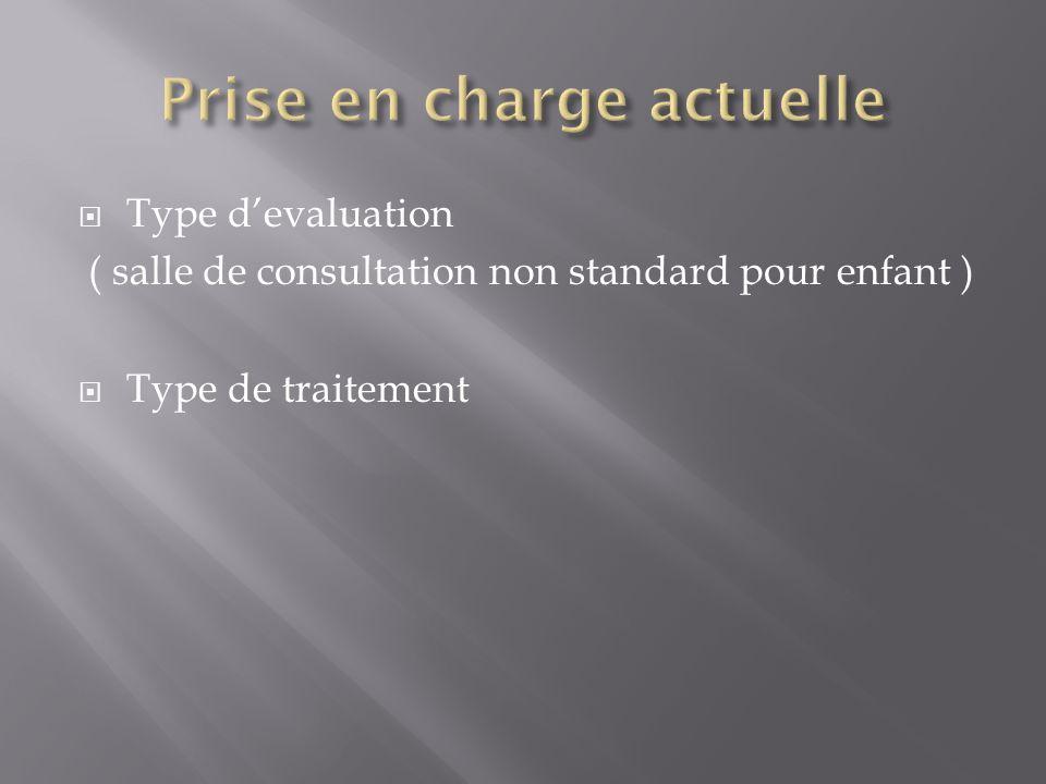 Type devaluation ( salle de consultation non standard pour enfant ) Type de traitement
