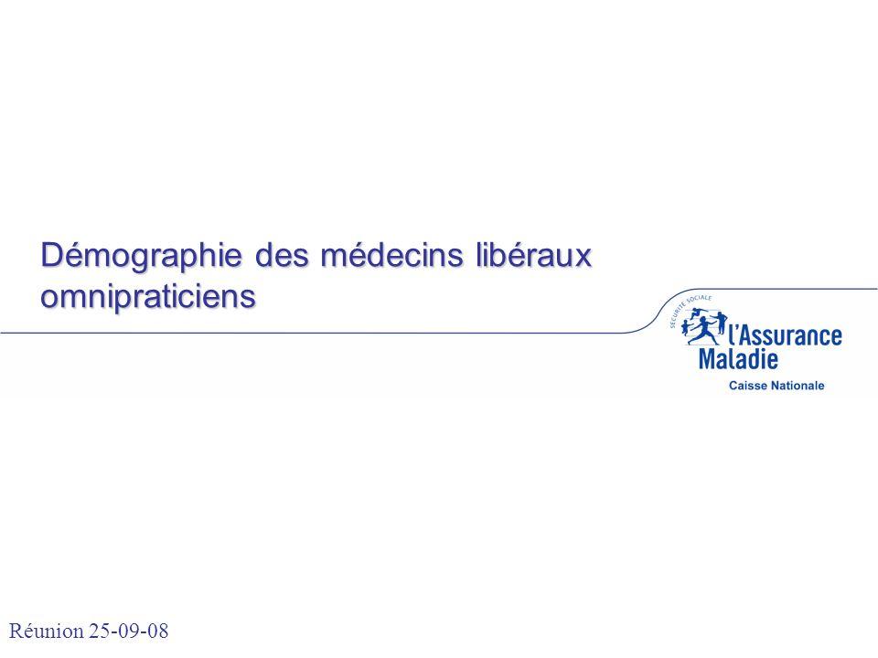 Démographie des médecins libéraux omnipraticiens Réunion 25-09-08