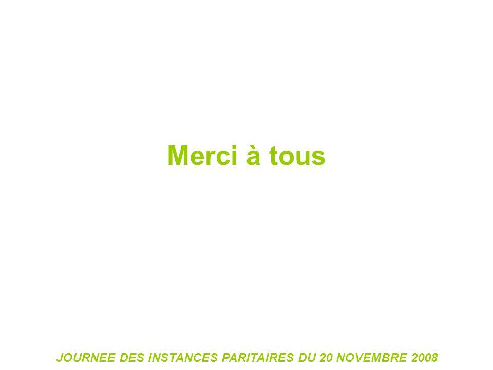 JOURNEE DES INSTANCES PARITAIRES DU 20 NOVEMBRE 2008 Merci à tous