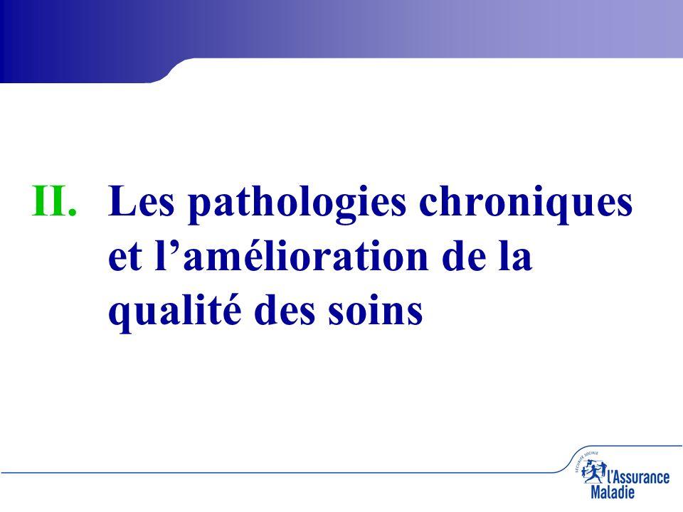II. II.Les pathologies chroniques et lamélioration de la qualité des soins
