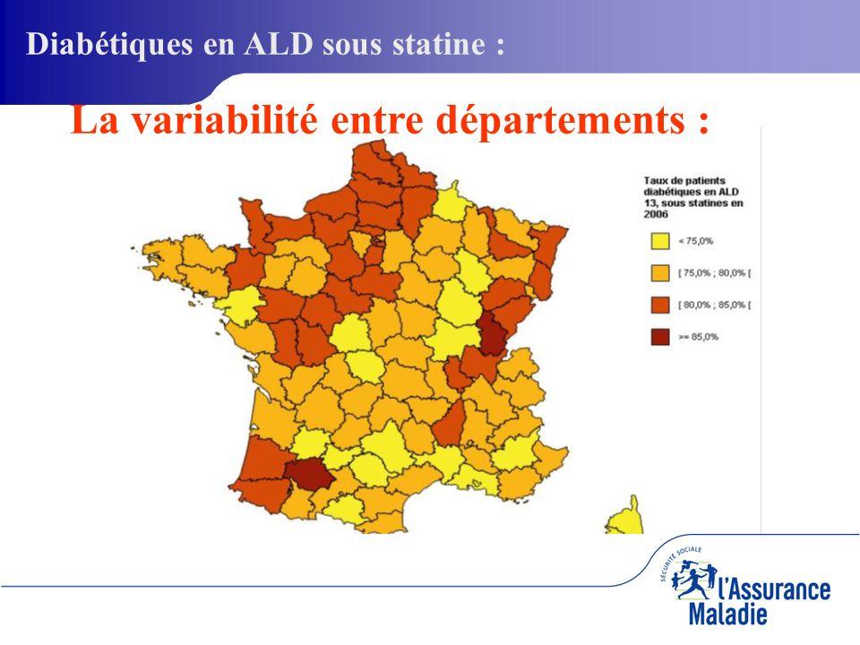 32 La variabilité entre départements : Diabétiques en ALD sous statine :