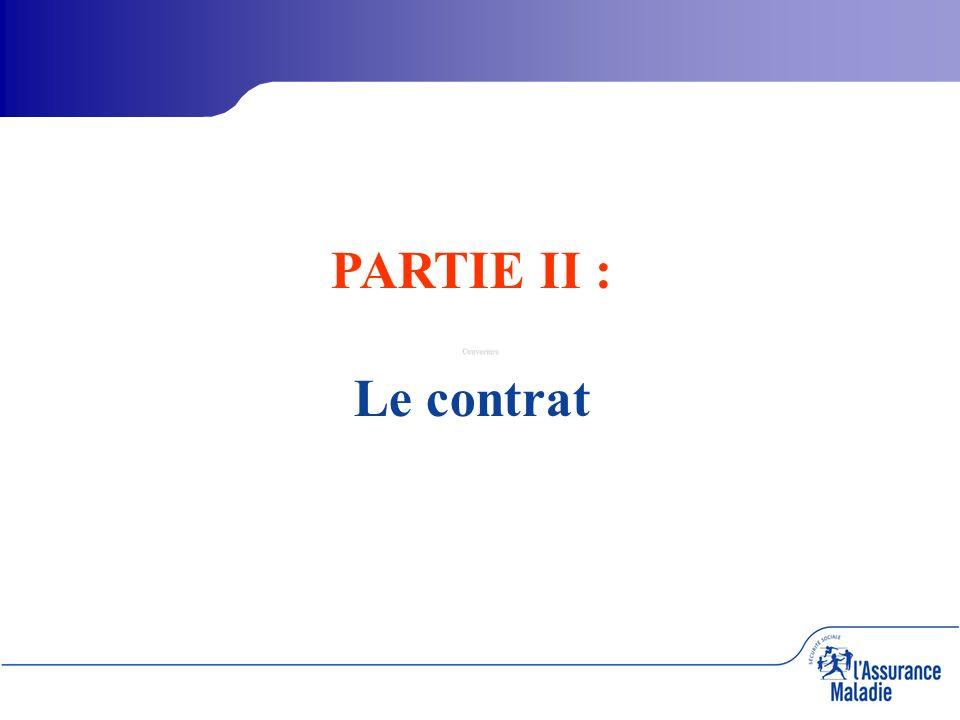 Couverture PARTIE II : Le contrat