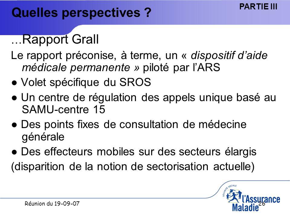Réunion du 19-09-0726 Quelles perspectives .