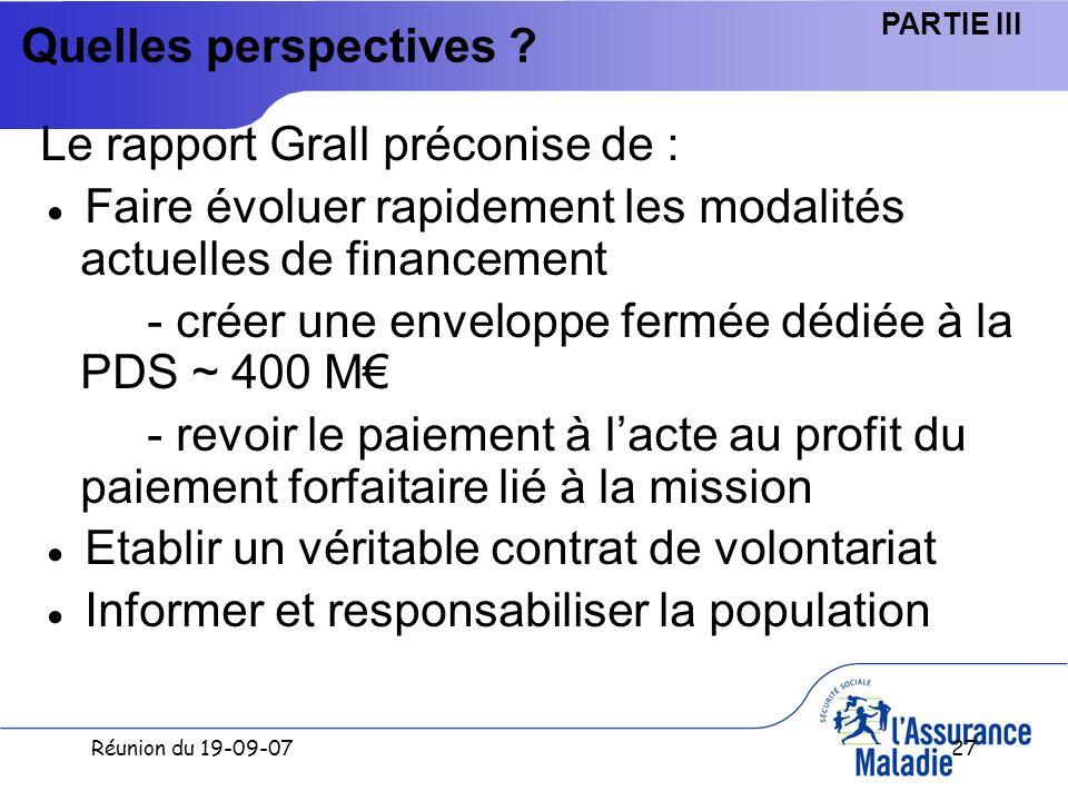 Réunion du 19-09-0727 Quelles perspectives .