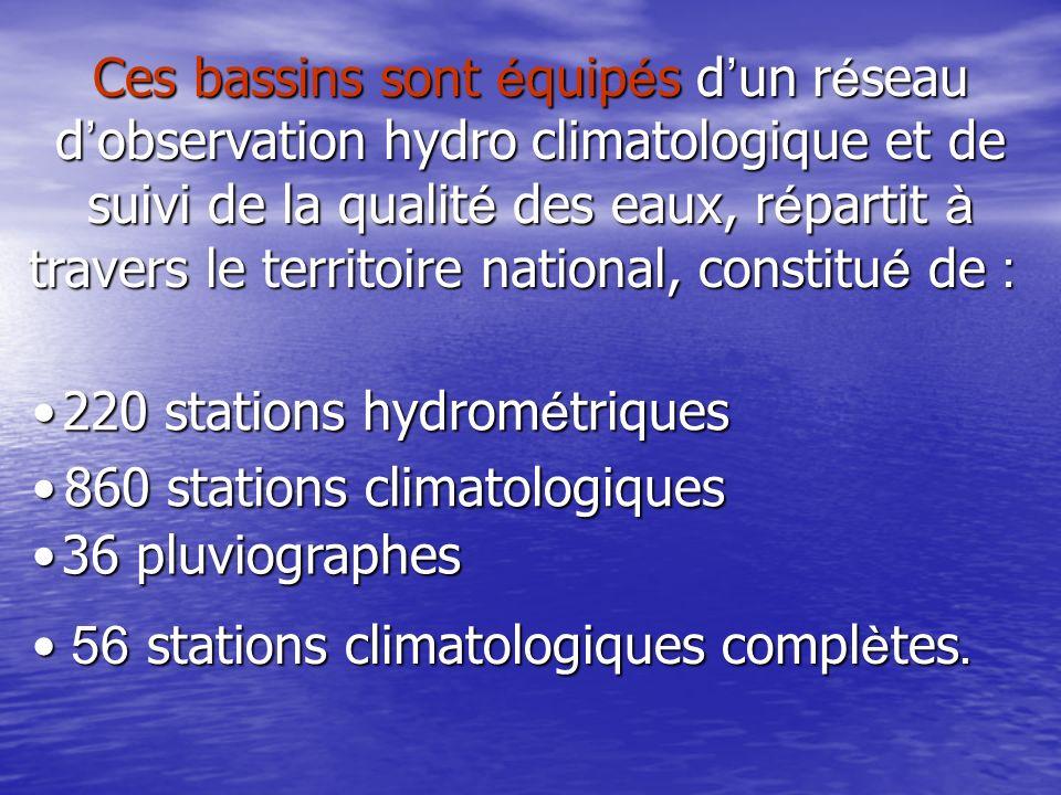 Les mesures hydro climatologique, les cartes de situations, les graphiques de d é bit et les caract é ristiques des bassins versants, class é es par grandes r é gions hydrographiques, dans l ordre du codage.