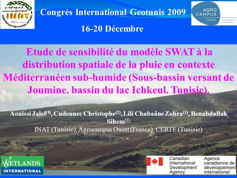 Etude de sensibilité du modèle SWAT à la distribution spatiale de la pluie en contexte Méditerranéen sub-humide (Sous-bassin versant de Joumine. bassi