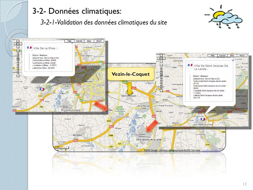 3-2- Données climatiques: 3-2-1-Validation des données climatiques du site Vezin-le-Coquet 13